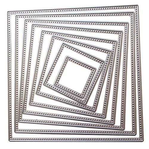 Jinzuke 8pcs / Set European Style Carbon Steel-Platz-Vorlage Schneideisen DIY-Karte Werkzeugbau (Platz-karten-vorlagen)