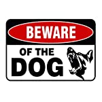 """Cocity Beware of Dog Sign, Dog Warning Sign, 11.81""""x7.87"""", Easy Mount On Fence Or Gate"""
