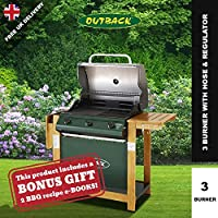 Outback Hunter 3 Burner Gas Barbecue Grill Hooded