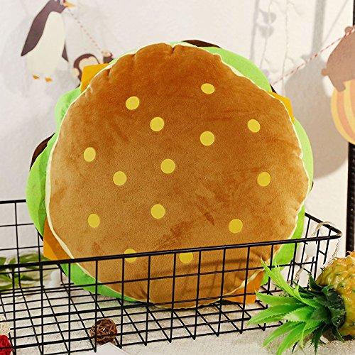 Plüschkissen,Burger Pillow Fluffy gefüllt Burger für Kinder Halloween-Kostüm, Kinder (Hunde Fluffy Kostüm)