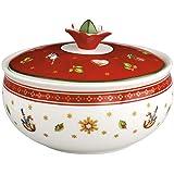 Villeroy & Boch Toy's Delight suikerpot, premium porselein, wit/rood
