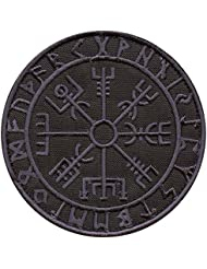 Dark ACU Vegvisir Viking Compass Norse Rune Morale Tactical Sew Thermocollant Écusson Patch
