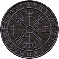 2AFTER1 Dark ACU Vegvisir Viking Compass Norse Rune Morale Tactical Touch Fastener Patch
