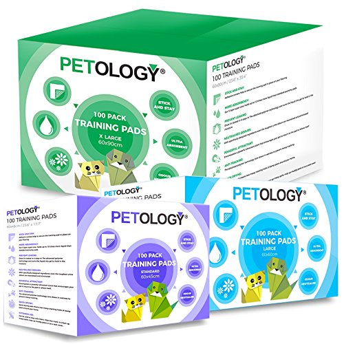 PETOLOGY® Training Pads Puppy Dog Cat Super Absorbent Odourless Pads Pee Toilet House Training