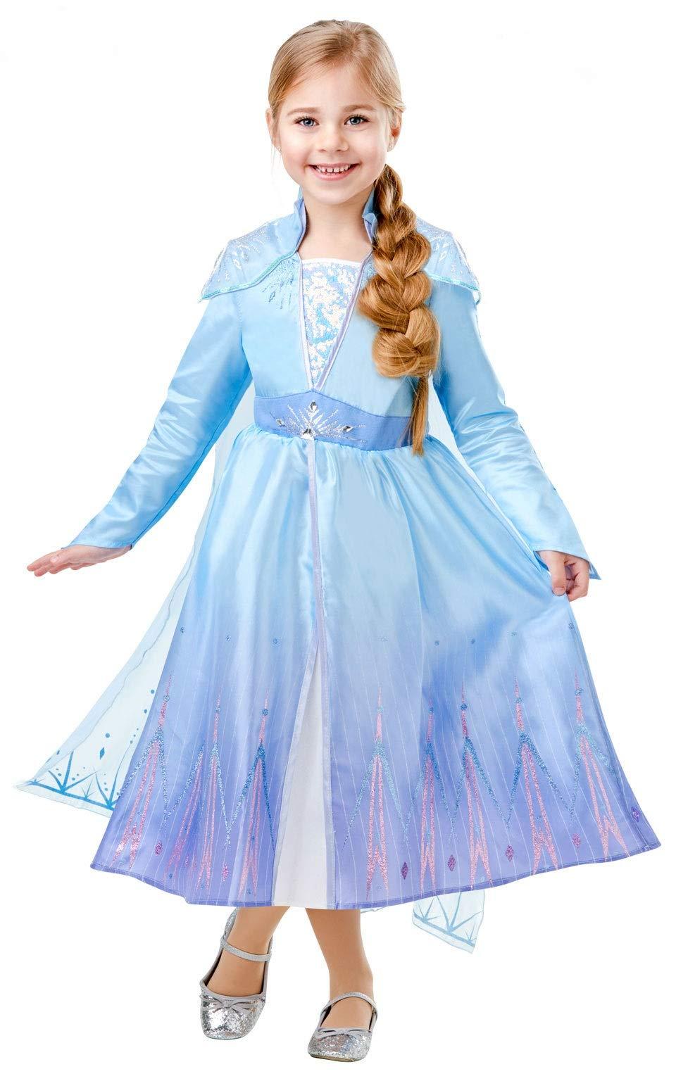 Frozen 2 Deluxe Disfraz Elsa Travel, M, Multicolor, (Rubie'S 300506-M)