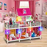 #3: Wise Guys 2 Floors Large Doll House Play house with all Furniture's, 2 Dolls, Snowman, Reindeer Perfect Gift for Girls - Multi Color