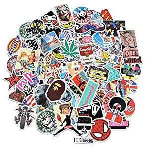 Rapidotzz PVC Decal Graffiti Patches Skateboard Stickers for Laptop (Model 2) -Pack of 100 Pieces