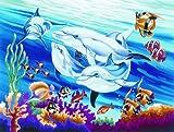Malen nach Zahlen gross Delfine