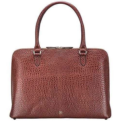 Maxwell Scott Bags® Kroko Luxus Leder Aktentasche