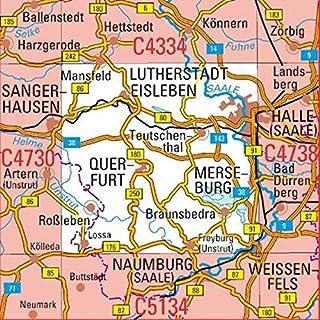 C4734 Halle (Saale) Topographische Karte 1 : 100 000: DTK 100 Sachsen-Anhalt