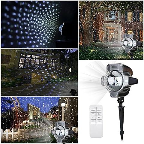 LED Projektionslampe,Yoyokit Niederspannung Weihnachtsdeko Projektor Lampe mit Fernbedienung IP65 Wasserdicht