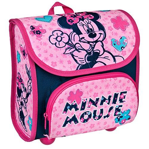 Scooli MIHL8240 - Vorschulranzen Cutie mit Klettverschluss, ergonomisch, leicht, Disney Minnie Mouse, ca. 4,5 Liter