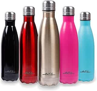 Decdeal Borraccia in Acciaio Inox Isolata Sottovuoto,500Ml Bottiglia Termica Portatile,Vernice di Gomma,per Scuola,AllAperto Palestra
