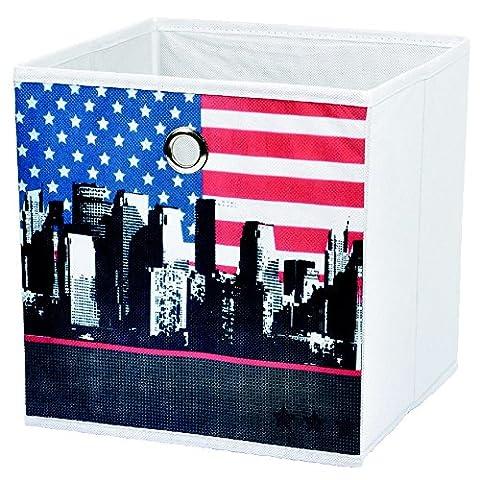 New York - Panier De Rangement Pliable Déco New York