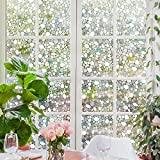 Rabbitgoo 3D Fensterfolie Fensterschutzfolie Dekorfolie Sichtschutzfolie Selbsthaftend Anti-UV 44.5 * 200cm