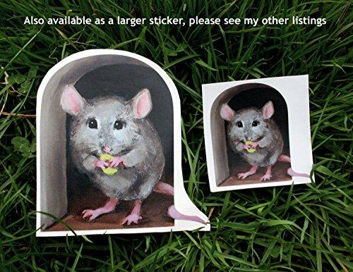 Mouse Hole Wall Stickers 2 x Miniature Mice mini mural
