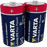 VARTA Longlife Max Power D Mono LR20 Batterij (verpakking met 2 stuks) Alkaline Batterijen – Made in Germany – ideaal voor sp