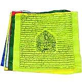 Mandala Crafts® Tibetan Green Tara Large Prayer Flags, 10 Flags, 13 X 12 Inches