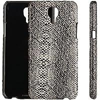 LG X Screen Custodia, Casefashion® Moda Man Cover PU Pelle Anti-Scratch Embedded Back Case Shell Protector per LG X Screen - Serpente pelle modello