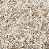 Teppichboden Auslegware | Hochflor Langflor | 400 und 500 cm Breite | weiß natur | Meterware, verschiedene Größen | Größe: 9,5 x 4 m
