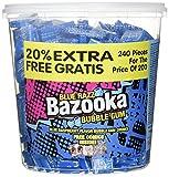 Dok Bazooka Bubble Gum Blue Razz Himbeere Eimer + 20%, 1er Pack (1 x 1.4 kg)