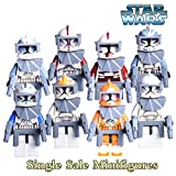 NW 8pcs/lot Star Wars 7 The Force Awakens Clone Trooper Minifigures Commander Fox Rex Bricks Mini Figures Within Sticker collection from NW Store(Without Original Box)