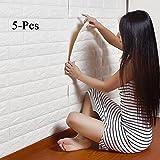 5 Sheets 3D Ziegel Muster Tapete By S.A Selbstklebend DIY Polyethylene Schaum Wand Dekoration Fliesen