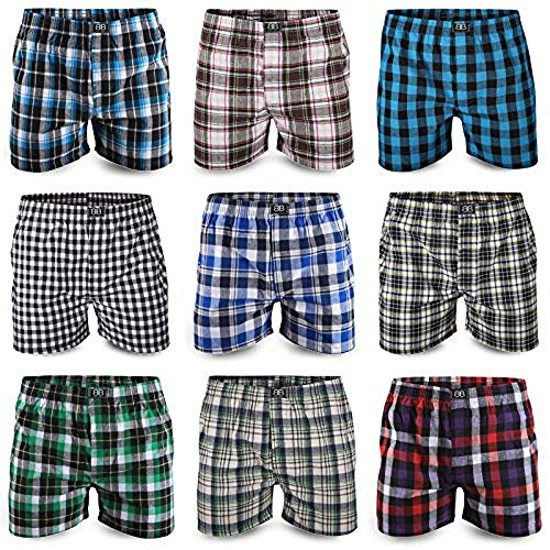 Best Basics Boxershorts Hipster American Style Boxer Unterhosen Baumwolle Herren,M,6er Pack (mehrfarbig)
