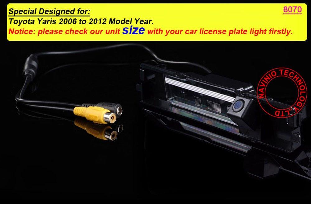 dynavsal-CCD-Auto-Rckfahrsystem-Rckfahrkamera-Kamera-mit-Nachtsicht-Funktion-High-Definition-und-breiten-Blickwinkel-Ideal-fr-Toyota-Yaris-2006-to-2012