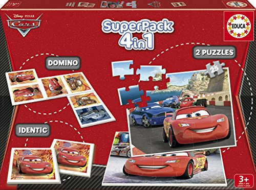cars - superpack 4 puzzles en 1 Cars – Superpack 4 puzzles en 1 61WE53lUAkL