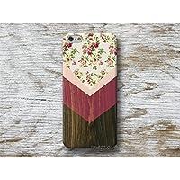 Blumen Chevron Holz Print Handy Hülle Handyhülle für Samsung Galaxy S8 Plus S7 S6 Edge S5 S4 mini A3 A5 J5 2016 2017 Note 4 5 Core Grand Prime