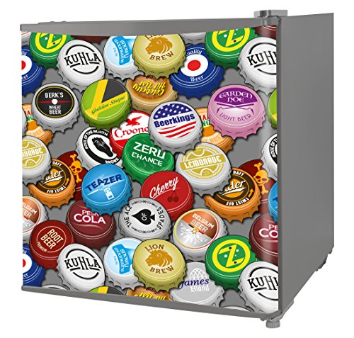 Kuhla KTTF4SSGB-1002 Table Top Fridge with Bottle Cap Design and Reversible Door, Multi-Colour Best Price and Cheapest