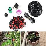 Sistema de irrigación micro del goteo de DIY, espray de la irrigación de la manguera del jardín para la planta de las flores del jardín del patio (manguera de 82 pies)