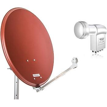 opticum stahl qa60 satellitenantenne mit octo lnb amazon. Black Bedroom Furniture Sets. Home Design Ideas