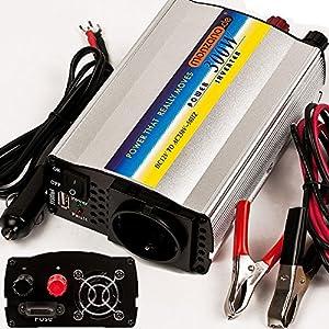 Spannungswandler Wechselrichter Stromwandler Inverter KFZ Auto 300/600W 12V-230V USB 5V from Deuba