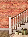 PPD 'Bricks Sand' Peel and Stick Wallpaper (Self Adhesive), 01 Roll / 44 Sqft (40 cm X 1016 cm)