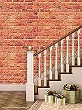 PPD 'Bricks Sand' Peel and Stick Wallpaper (Self Adhesive), 01 Roll / 44 Sqft (40 cm X 1016 cm)