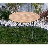 Gartentisch BAD TÖLZ 100 cm grün, Robinienholz, klappbar