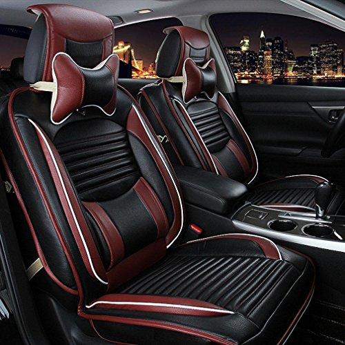 UO Autositz Vier Jahreszeiten Kissen Leder Sitzbezug , Black,black