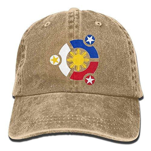 Preisvergleich Produktbild Ubuntu Philippines Vintage Washed Denim Dad Sport Baseball Cap