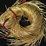 #6: Embroiderymaterial Dapka For Aari , Zardosi Embroidery & Jewellery Work ,1MM, Smooth Finish, Dark Golden Color(100 Gram)