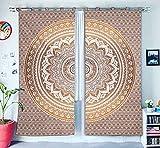Home Decor Fenster tratments indischen Drapes Panel-Set & Querbehang Schlafzimmer Wohnzimmer Decor Handgefertigt Wand aufhängen Boho Tür Baumwolle Vorhang Bohemian Mandala Tapisserie Vorhang