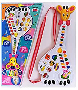 Toyshine Animal Guitar Toy with Music and Lights, Assorted Color