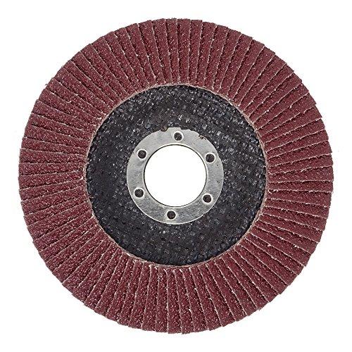 10 Stück SBS Fächerscheiben 125 mm / Korn 40 Braun Schleifscheiben Schleifmop