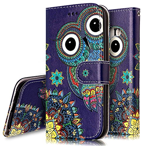 Coque Etui pour Galaxy A5 2017,Galaxy A5 2017 Coque Portefeuille PU Cuir Etui,Galaxy A5 2017 Coque de Protection en Cuir Folio Housse, iPhone 7 Leather Case Wallet Flip Protective Cover Protector, Uka Hibou