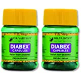 Dr. Vaidya's New Age Ayurveda | Diabex Capsules | Ayurvedic Capsules for Blood Sugar Control | 30 Capsules (Pack of 2)