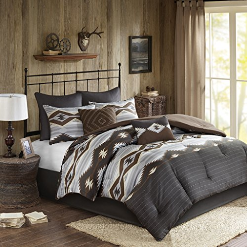 Woolrich Comforter Set, Grey/Brown, King