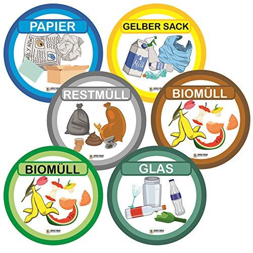 Finest-Folia-Juego de 6Multicolor Separación de Basura Adhesivo arañazos y Resistente al Agua...