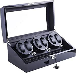 DUKWIN - Caricatore automatico per 6 orologi da polso automatici e 7 standard, 4 modalità di rotazione del motore silenzioso, circa 6 - 7 rotazioni al minuto