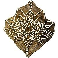 Holztextilmarken Indischen Lotus Dekorativen Rand Malerei Stempel Pb2803A
